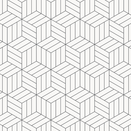 Vector pattern. Modern stylish texture. Repeating geometric tiles. Striped monochrome cubes. pattern is on swatches panel