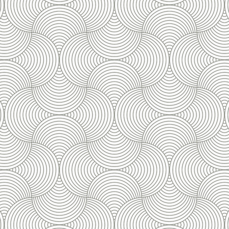 geometric pattern vector. Geometric simple fashion fabric print. Vector repeating tile texture. Overlapping circles funky theme or linear petal of flower or flora. pattern is on swatches panel