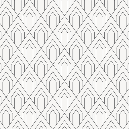 geometric vector pattern, repeating square diamond shape with arch or abstract scale fish or dragon. pattern is on swatches panel