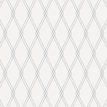 Geometric vector pattern, repeating square diamond thin line overlap each. Vector clean design for fabric, wallpaper, background. Pattern is on swatches panel. Illustration