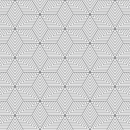 Vector linear pattern. Modern stylish texture. Repeating geometric tiles from thin line elements on linear triangle or abstract star overlap each. pattern is on swatches panel. Illustration