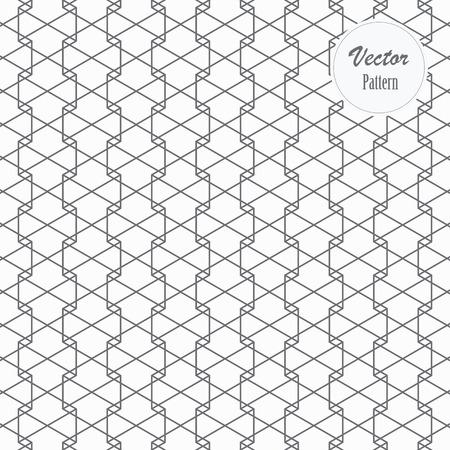 Hexagon-Vektormuster, sich wiederholende lineare Hexagon-Überlappungen jeweils