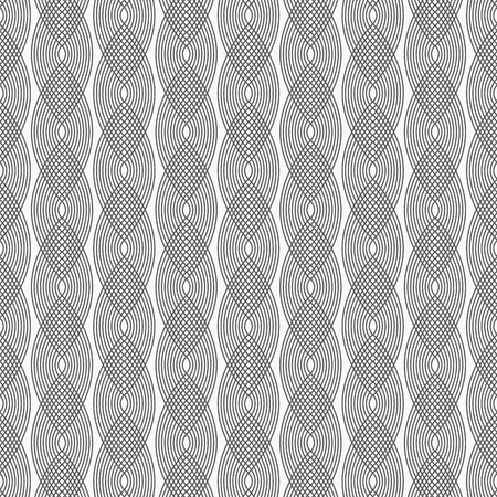 Vector pattern.wavy line or linear curves overlap each, repeating to be pointed oval shape. pattern is on swatches panel