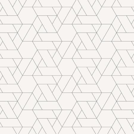 lineares Muster mit kreuzenden dünnen Polylinien, Polygonen. Abstrakte geometrische Textur. Vektorgrafik