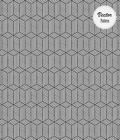 Modèle vectoriel. Cubes monochromes à rayures linéaires. le motif est sur le panneau des échantillons