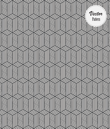 Vector pattern. Linear stripe monochrome cubes. pattern is on swatches panel