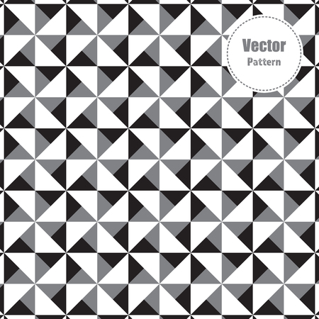 Triangle pattern vector, repeating triangle circles on square shape