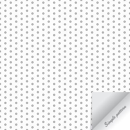 Vector patrón monocromo, textura de lunares, pequeños círculos y manchas. Fondo geométrico simple, el patrón está en el panel de muestras.