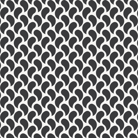 Vector seamless pattern. Abstract background with wavy elements. Monochrome hipster drawn texture