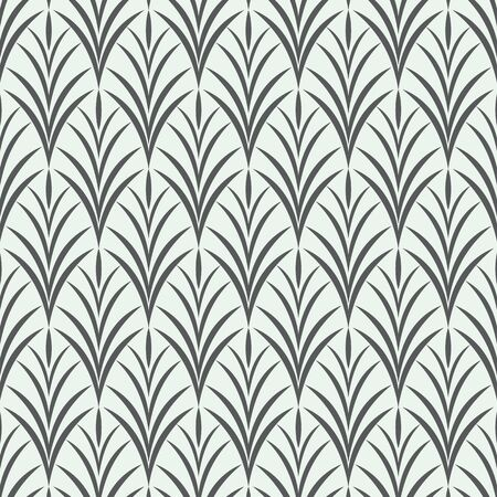 Vector pattern, repeating abstract green grass. monochrome stylish clean design for fabric, wallpaper, printing. Pattern is on panel.