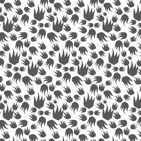 Abstract devil palm hand, vector pattern, vector clean for fabric, wallpaper, printing. Ilustrace
