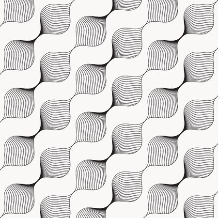 Abstract linear leaf or flower on garland pattern. Pattern is clean for design, fabric, wallpaper, printing. Pattern is on swatches panel. Vecteurs