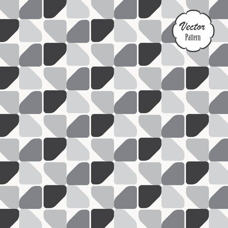 Geometric vector pattern, repeating quarter circle rounded corner. Graphic is clean for fabric, wallpaper, printing. Pattern is on swatches panel.