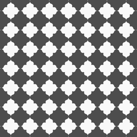Geometric vector pattern, repeating abstract flower in white and black. pattern is clean for fabric, wallpaper and printing. Pattern is on swatches panel