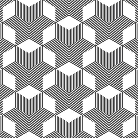 Geometric vector pattern, repeating stripe line on chevron combined to abstract star shape. Pattern clean for wallpaper, printing. Pattern is on swatches panel