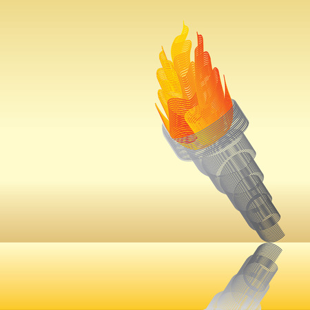 Flaming torch abstract illustration Vector