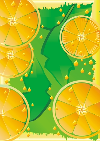 refreshment: Orange abstract background illustration  Illustration