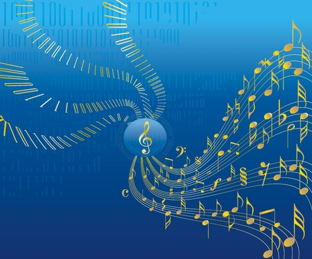 digital compose: Digital music conceptional business abstract