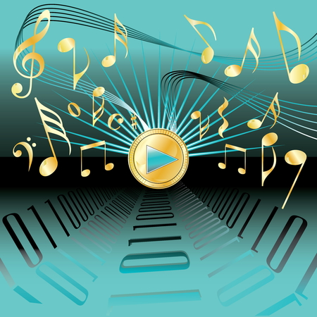 conceptional: Music conceptional abstract background Illustration