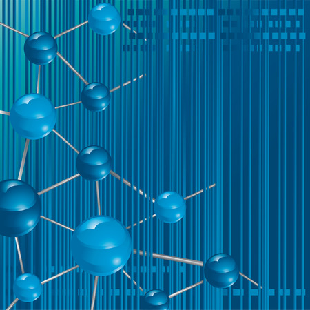 molecule technology background vector illustration Stock Vector - 3068025