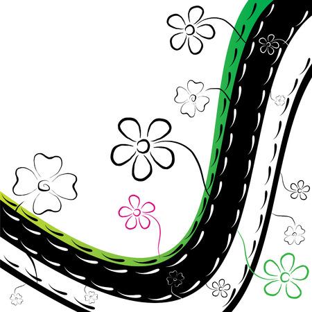 branch to grow up: Flower Garden resumen ilustraci�n vectorial