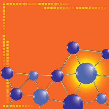 nuclear vector: molecule technology background vector illustration Illustration