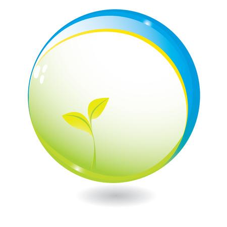 New life in sphere vector illustration Vector