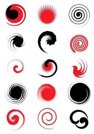 spiral design elements vector set 2 Vector