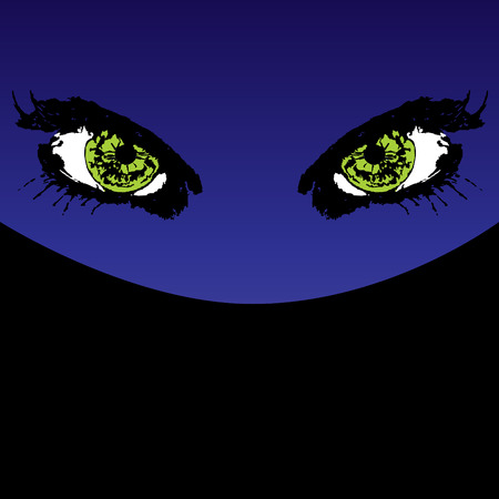 Mystery eyes vector illustration Vector