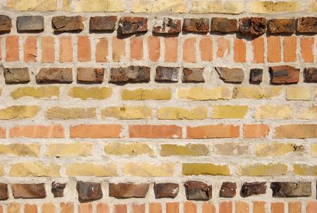 extraordinary: extraordinary wall made of different bricks Stock Photo