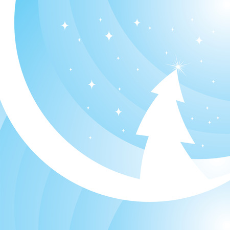 Beautiful magic Christmas tree Vector