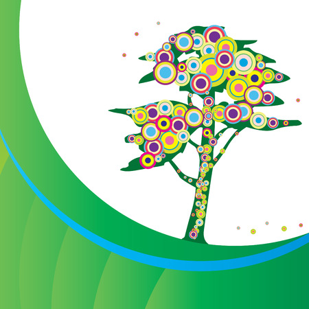Funky tree Vector