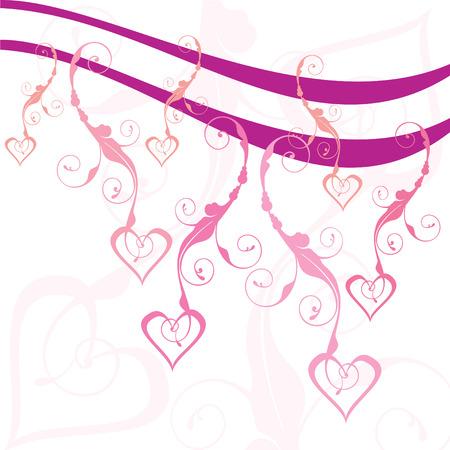 swirly hearts vector illustration Stock Vector - 3498874