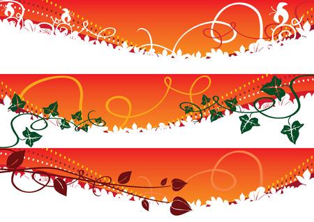 Autumn banners 1 vector illustration Vector
