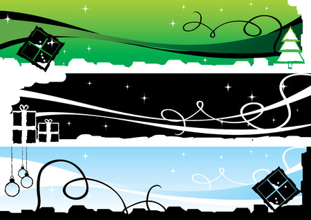 christmas banners 1 vector illustration Vector