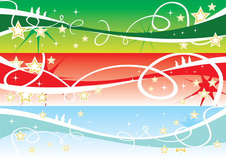 Christmas internet banners Vector