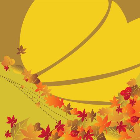 Autumn background temporary design vector illustration - fully editable Stock Vector - 3576875