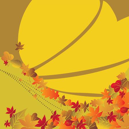 Autumn background temporary design vector illustration - fully editable Stock Vector - 3576875