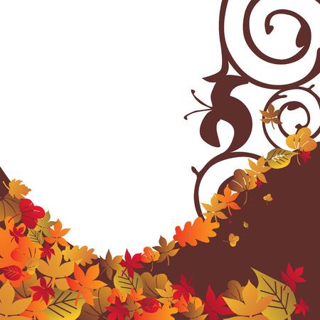Autumn background temporary design vector illustration - fully editable Vector
