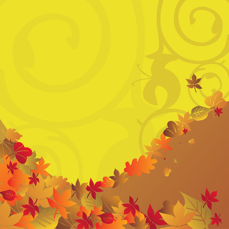 on temporary: Autumn background temporary design vector illustration - fully editable Illustration