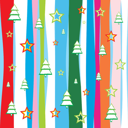 Seamless Christmas wallpaper  background vector illustration Vector