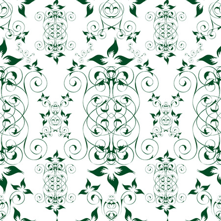Elegant seamless floral wallpaper vector illustration Vector
