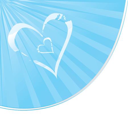 Cloudy Heart shape landscape vector illustration Vector