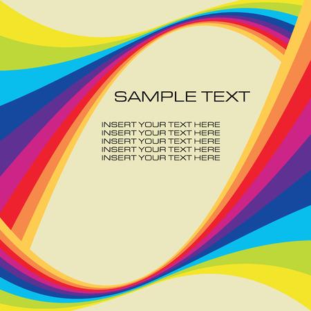 arco iris vector: retro de fondo con ilustraci�n vectorial copyspace