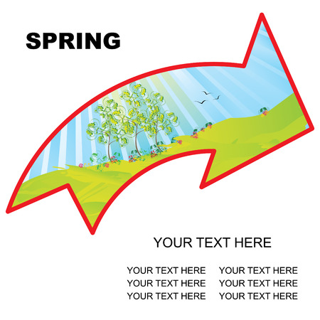 spring landscape arrow with copy space vector illustration Stock Vector - 3674923