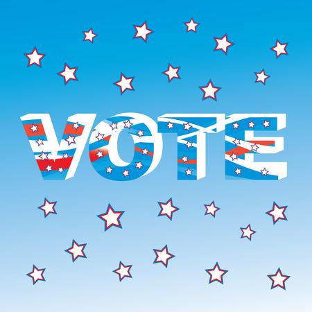 resident: USA election patriotic background vector illustration