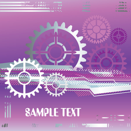 large industrial gears set futuristic background with copy space, vector illustration Stock Vector - 3797331