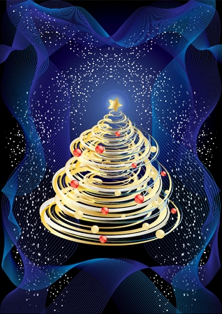 Christmas or New Year design, Vector illustration Stock Vector - 3885392