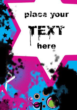 playbill: retro grunge background, vector illustration