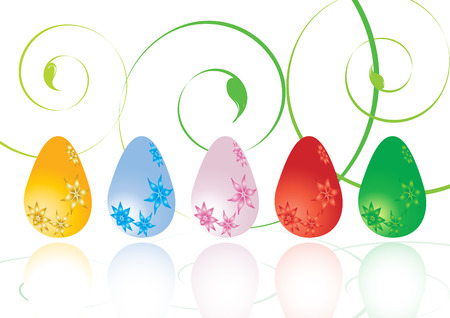 Colorful Easter eggs, vector illustration Vector